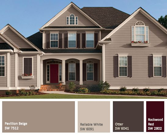 Top modern bungalow design exterior paint beige and brown for Best exterior house paint colors