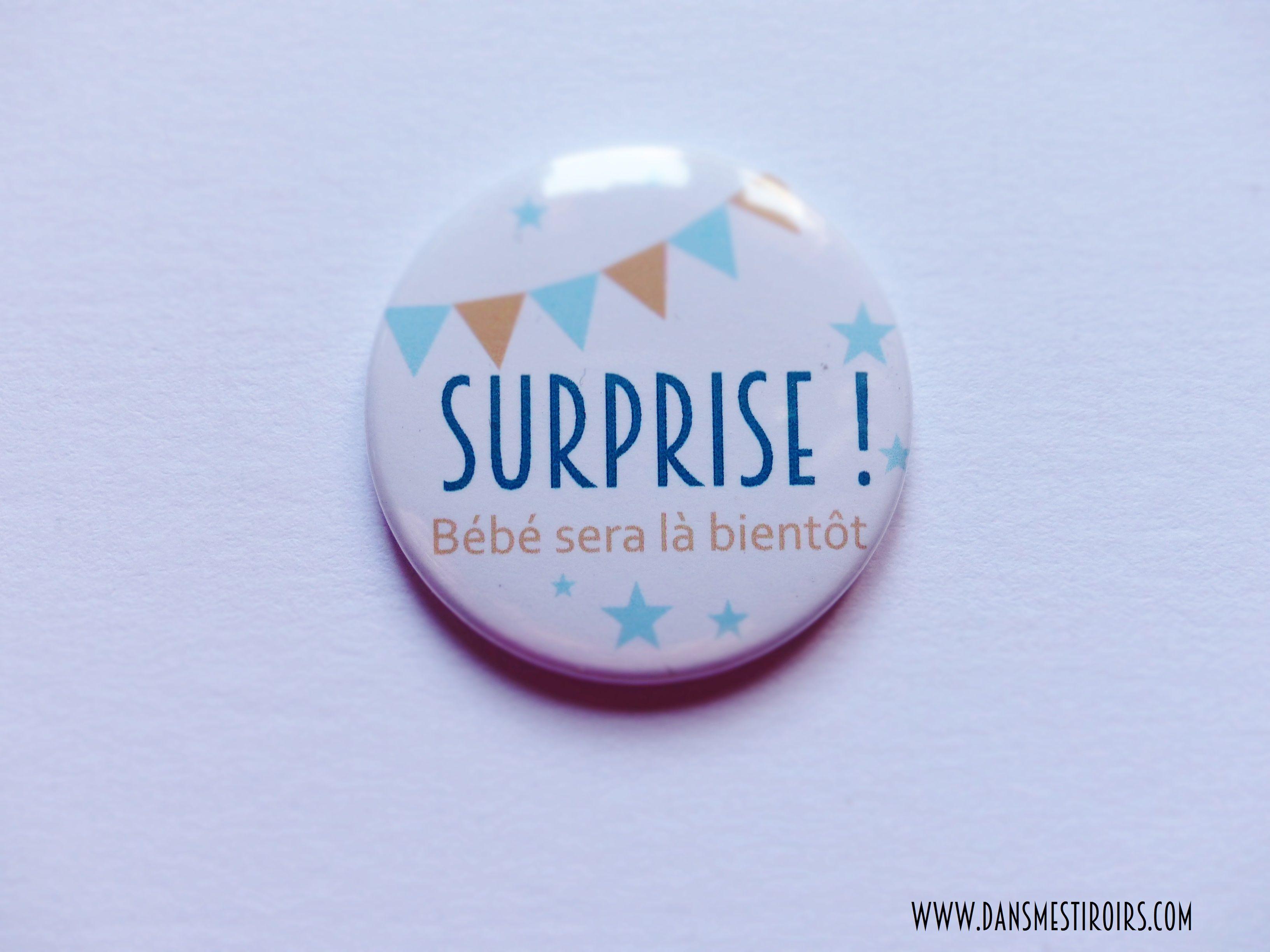 Super Badge annonce originale grossesse fait par www.dansmestiroirs.com  RJ72
