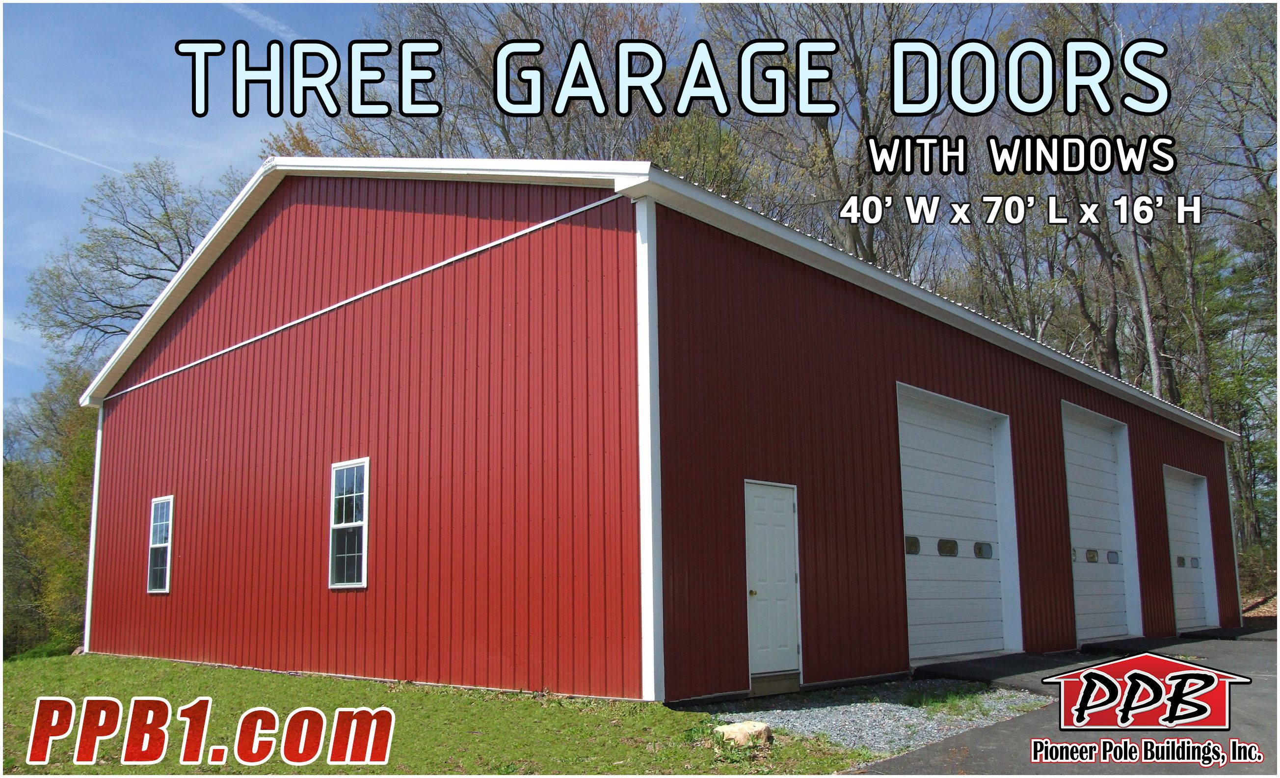 Pin By Pioneer Pole Buildings Inc On Dream Garages Pole Buildings Garage Design Garage Door Windows
