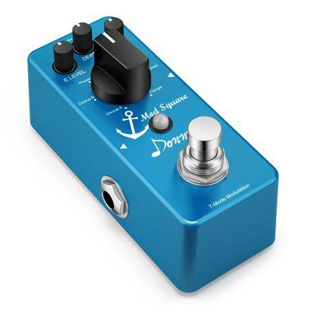 Donner Guitar Modulation Effect Pedal Digital Mod Square 7 Mode - Walmart.com #guitarpedals