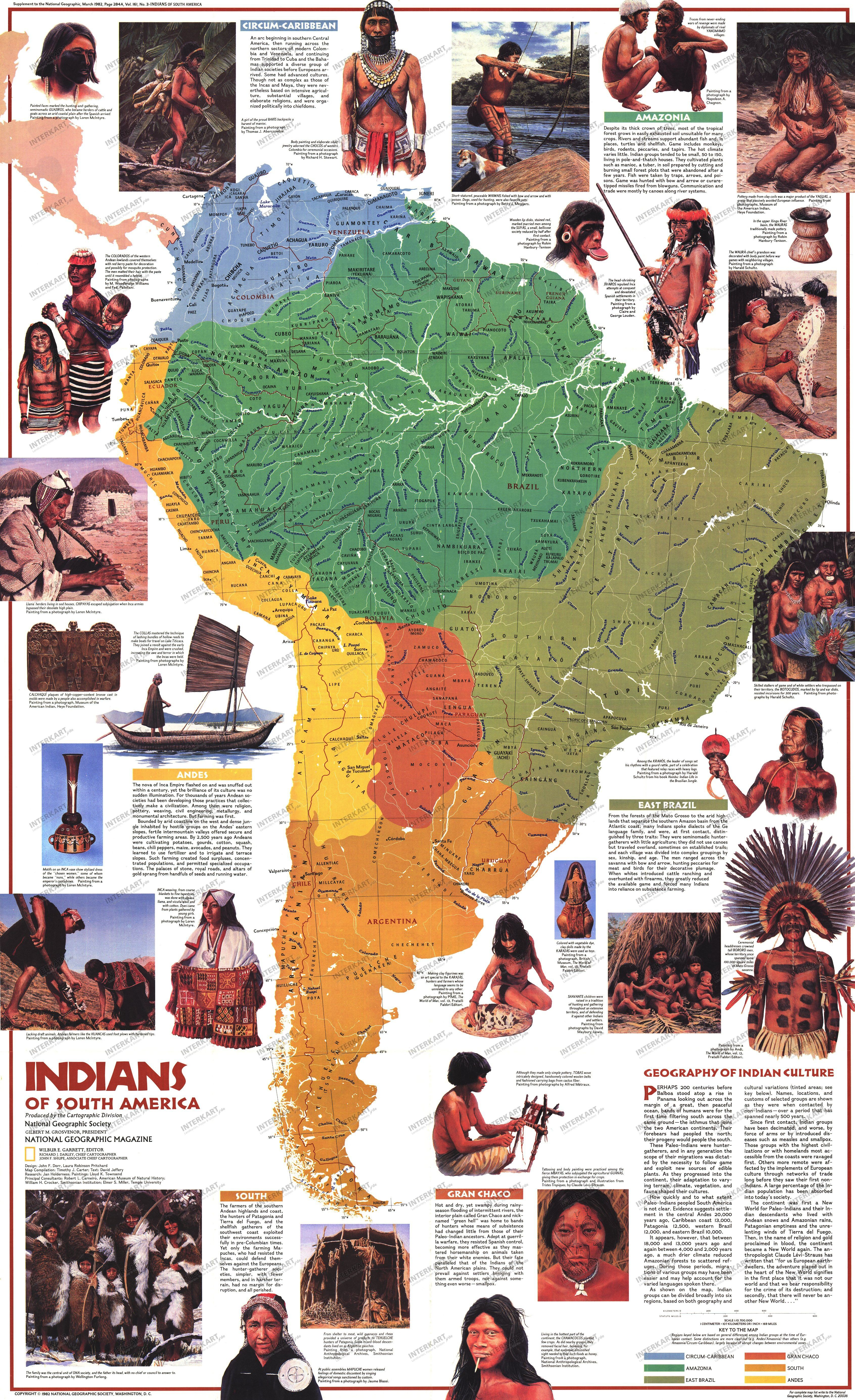 Map of South Americas Indian Tribes Indians