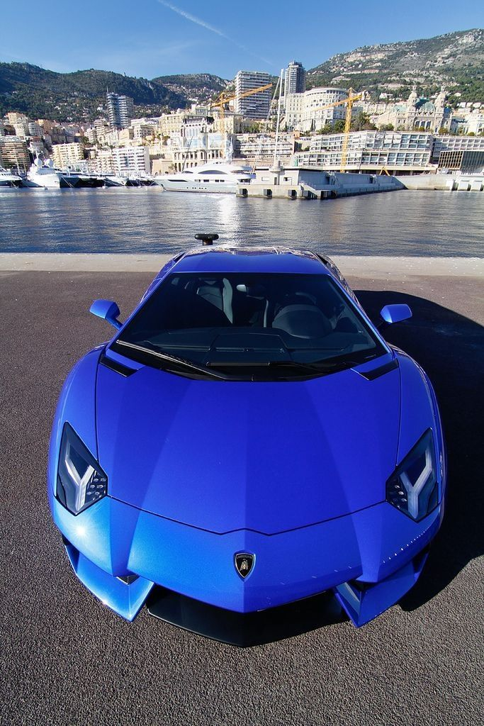 Electric Blue Lamborghini Aventador Cars And Bikes Cars
