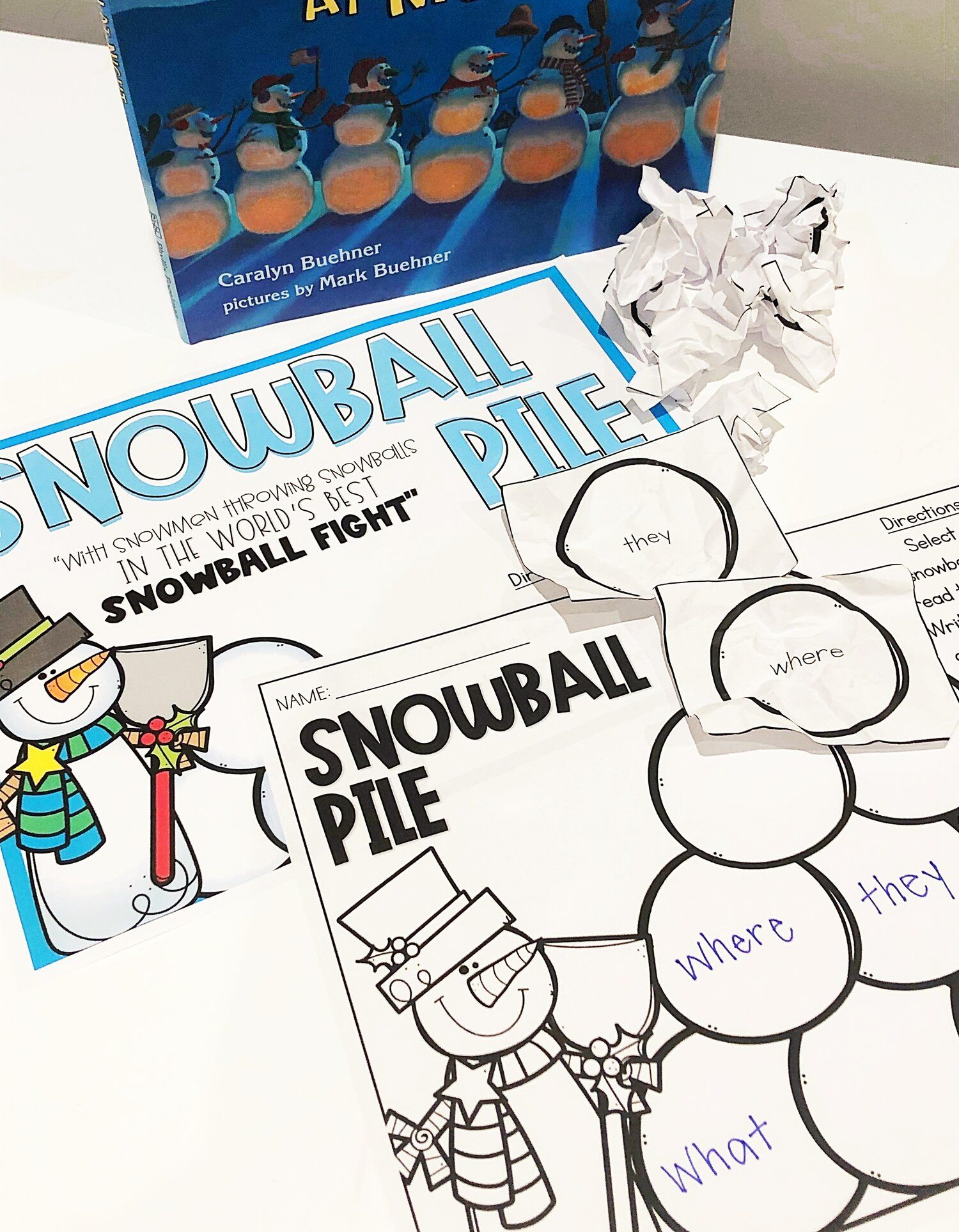 10 Engaging Snowmen At Night Activities For Literacy Math