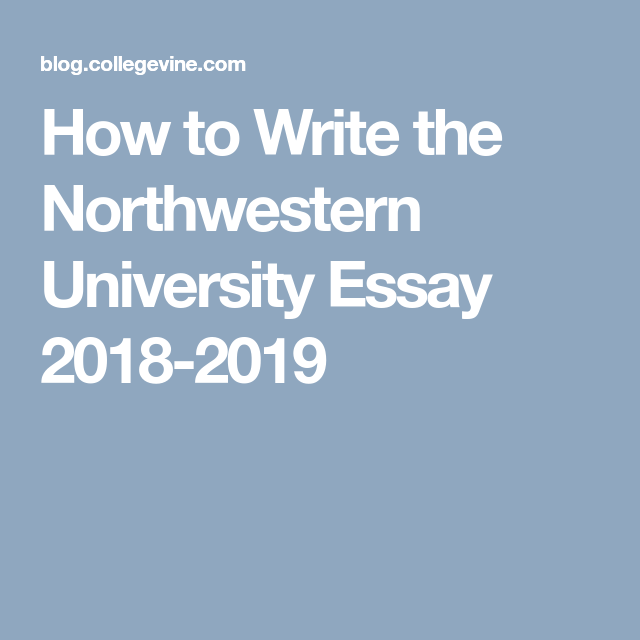 northwestern supplemental essays 2020