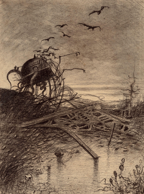 HENRIQUE ALVIM CORRÊA (Brazilian, 1876-1910) Wrecked Martian ...