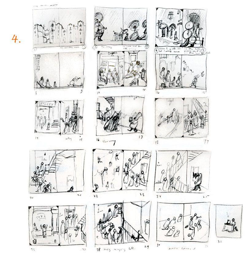 How to Make a Storyboard--Uri Shulevitz. Guide designed
