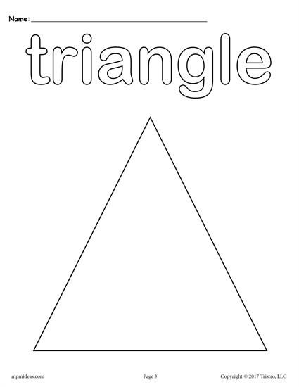 triangle coloring page # 1