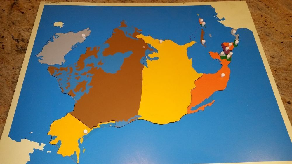 Montessori puzzle map of the continent north america montessori puzzle map of the continent north america in home garden kids teens gumiabroncs Images