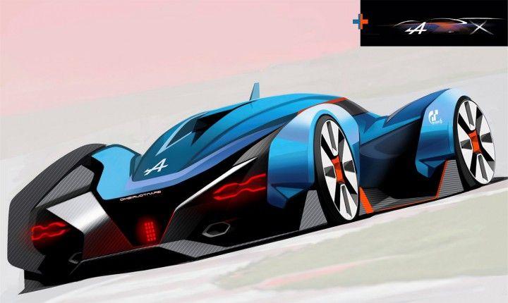 Alpine Vision Gran Turismo Concept Design Sketch by Tibor Juhasz