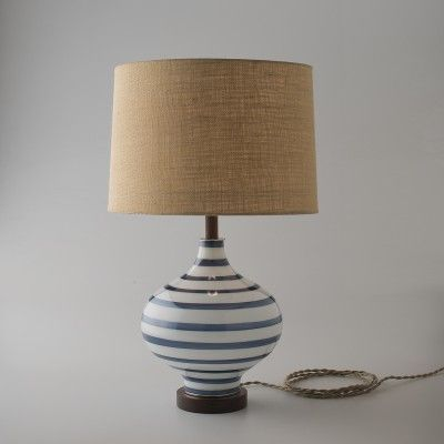 Lafayette Lamp Navy Stripes Table Floor Lamps Lighting Floor Lamp Table Table Lamp Design Stylish Table Lamps