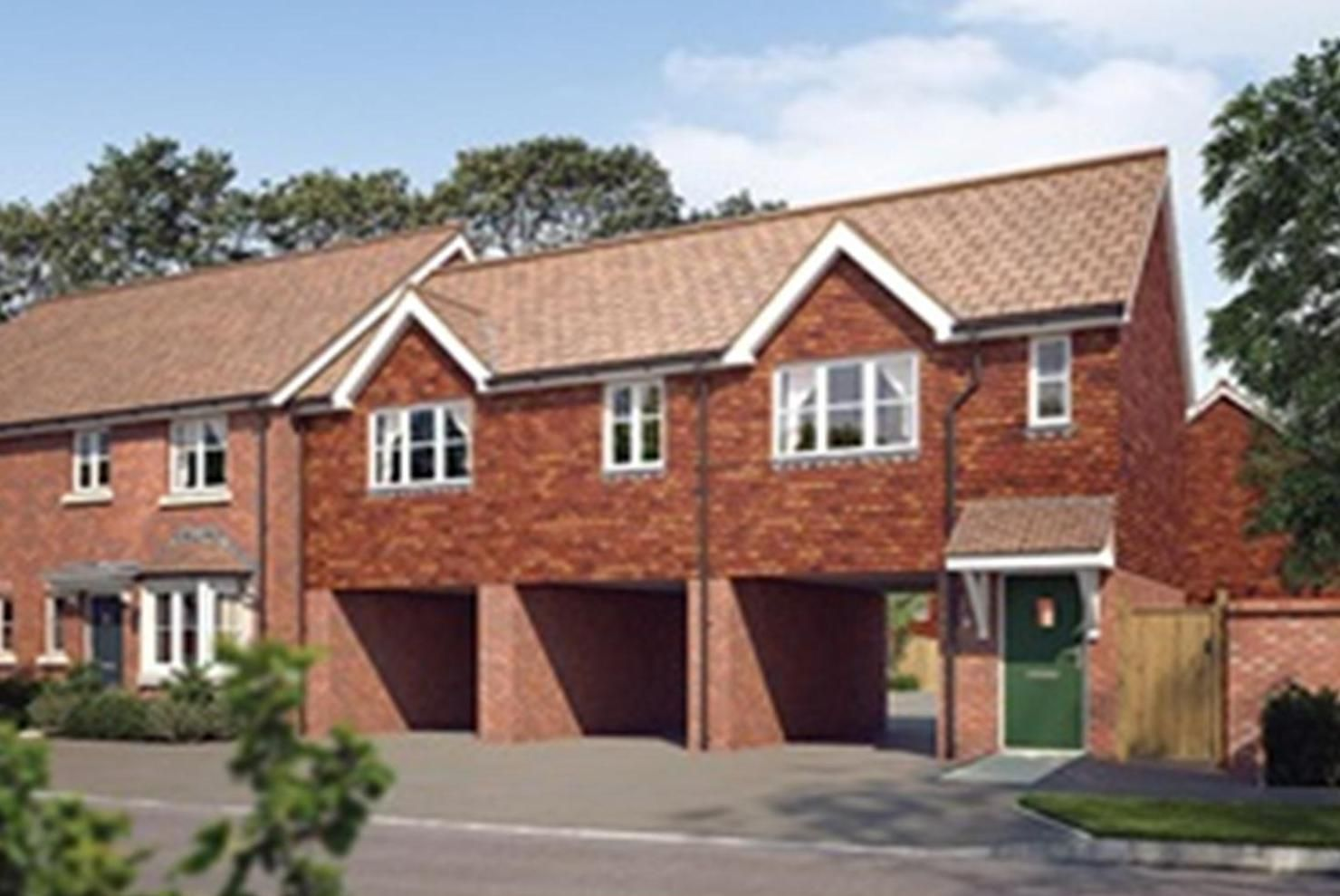 The coach house is a 2 bed new build for rent in Rochester ...
