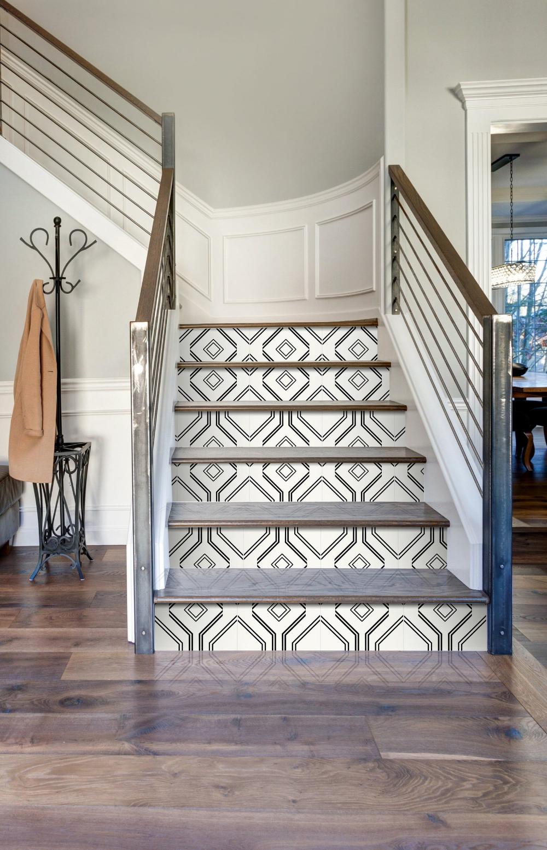 Best Geometric Minimalist Removable Stair Decal Geometric 400 x 300