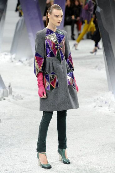 Chanel Fall 2012 crystallized jackets and lucite shoes