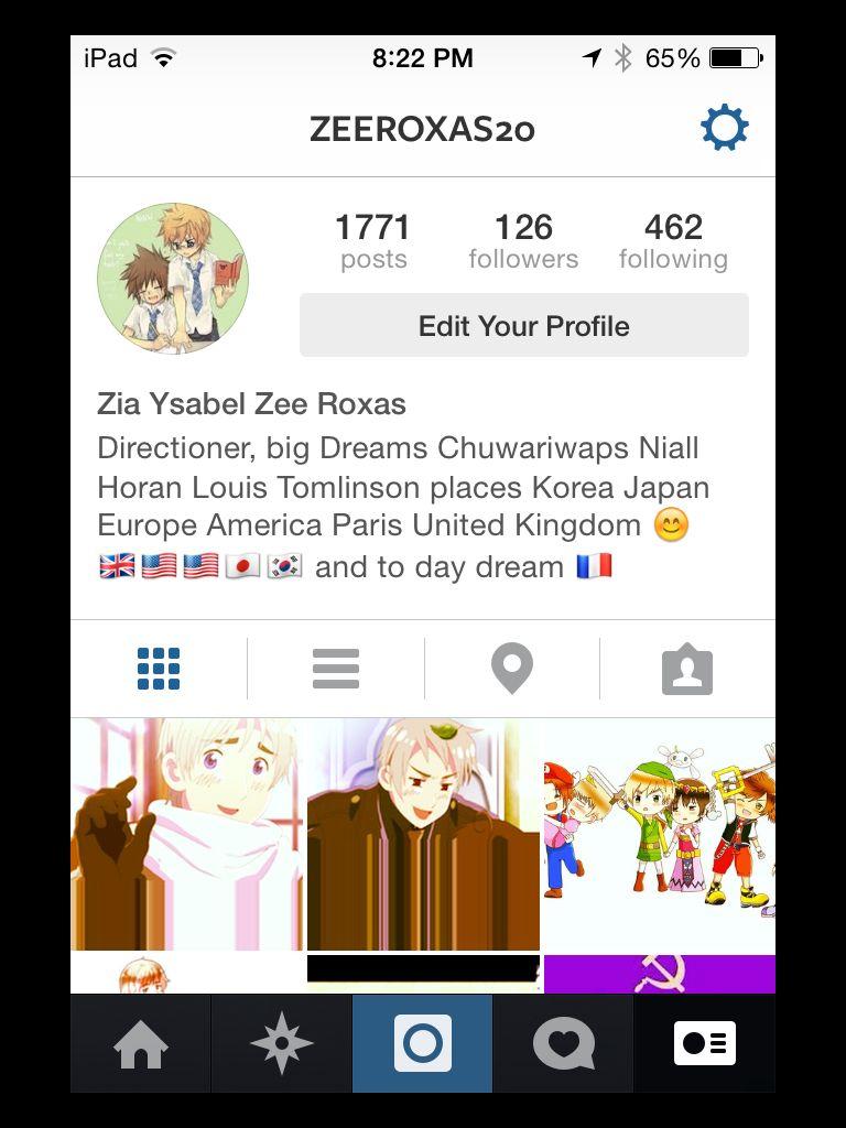 My Instagram profile (y)