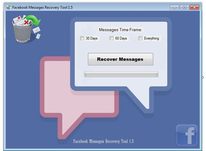 Recover deleted Facebook messages with an easy to use free software