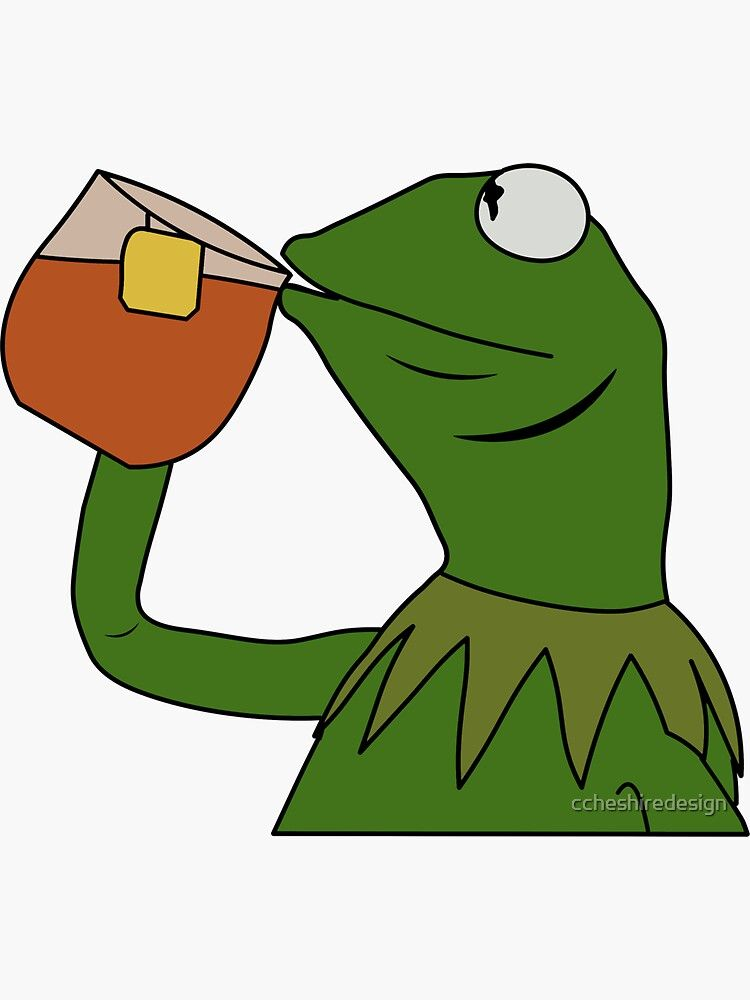 Sipping Tea Meme King But That S None Of My Business Sticker By Ccheshiredesign In 2020 Funny Paintings Simple Canvas Paintings Cute Canvas Paintings