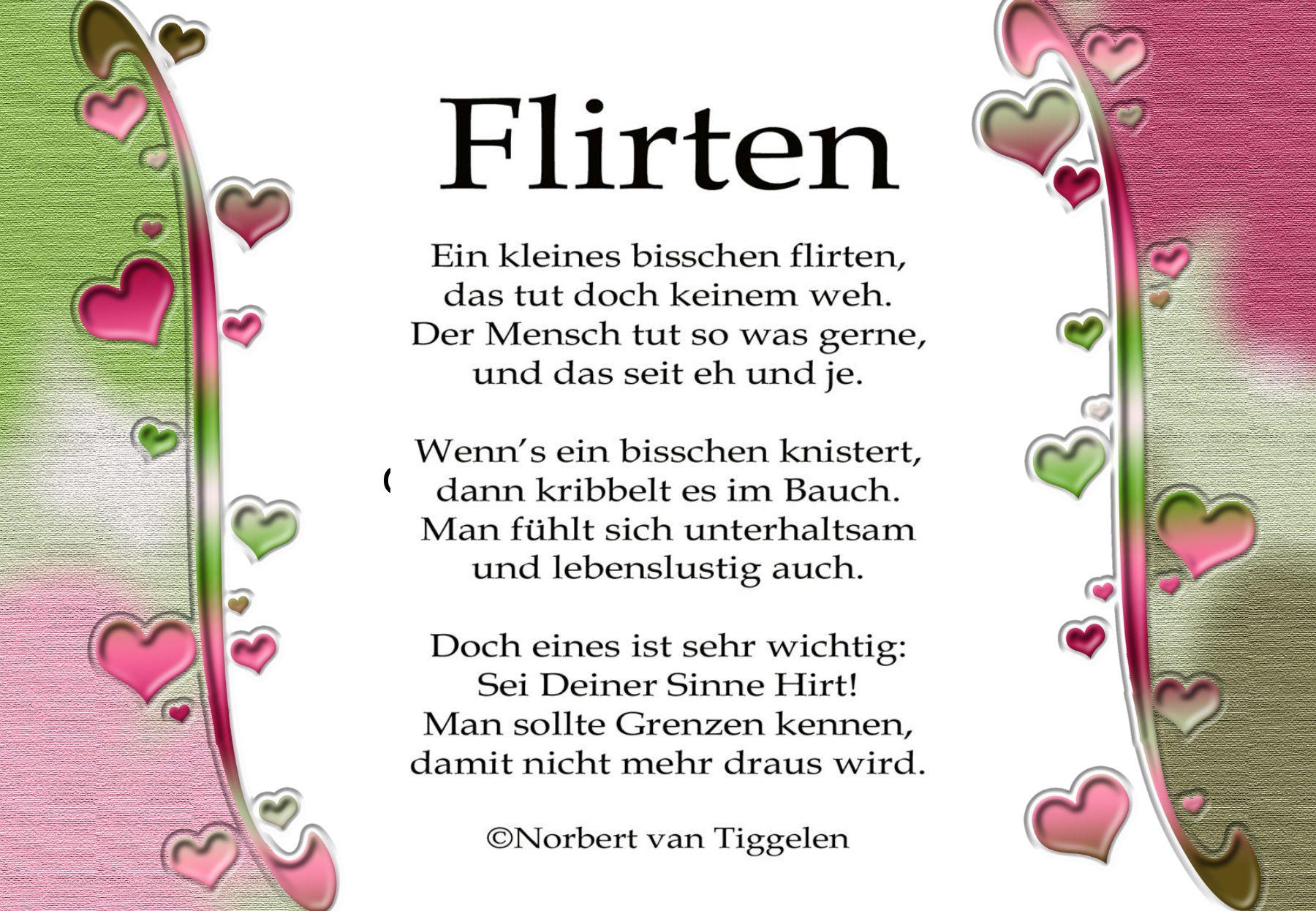 Flirten gedichte