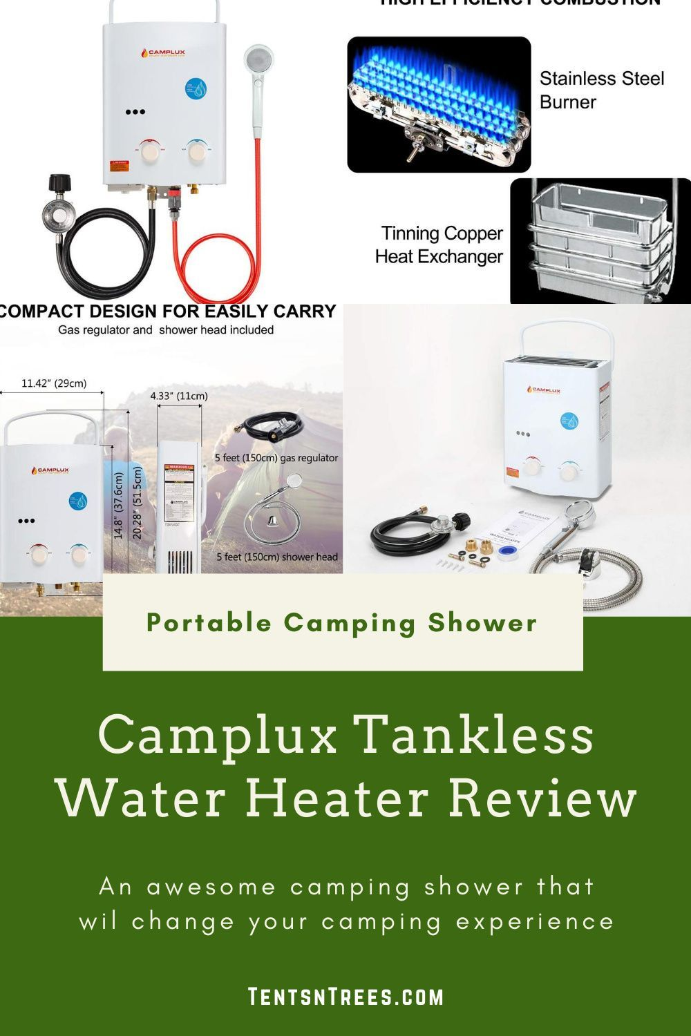 Camplux Tankless Water Heater Review Camping Shower In 2020 Tankless Water Heater Water Heater Camping Shower