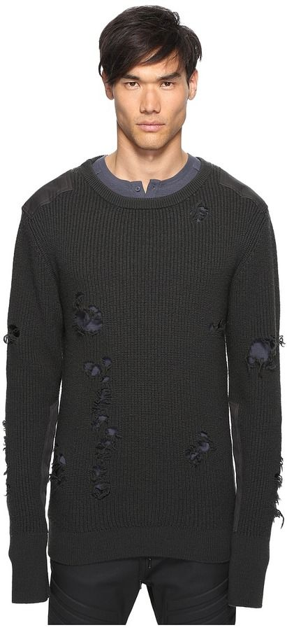 3a01aaa11219f adidas Originals by Kanye West YEEZY SEASON 1 - Destroyed Wool Sweater  Men s Sweater