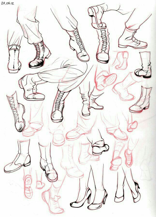 Shoes how to draw manga anime more
