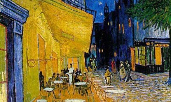 Terraza De Café Por La Noche Es Una Pintura Del Holandés