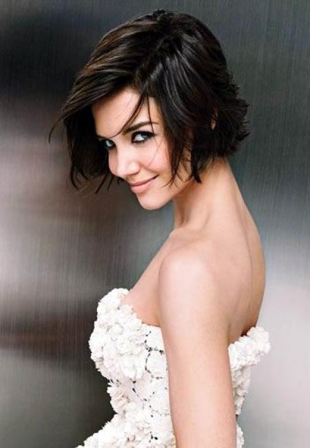 Short Hair Chin Length Hair Short Bridal Hair Katie Holmes Hair