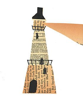 Lighthouse Architecture Art Collage Piece Pastesf School Art Projects Kids Art Projects Art Lessons
