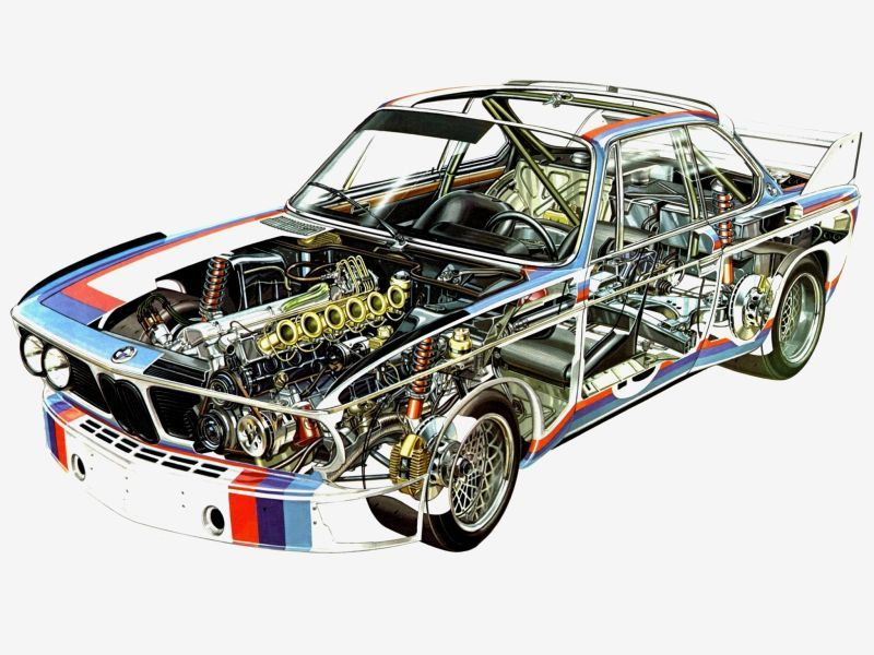 A3 Bmw M1 Cutaway Drawing Wall Poster Art Picture Print