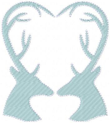 Deer Heart Embroidery Machines Machine Embroidery And Embroidery