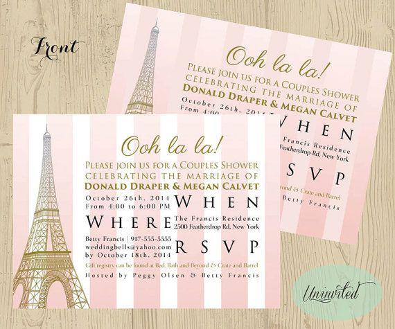 Pink And Gold Paris Theme Bridal Shower Bridal Shower Wedding