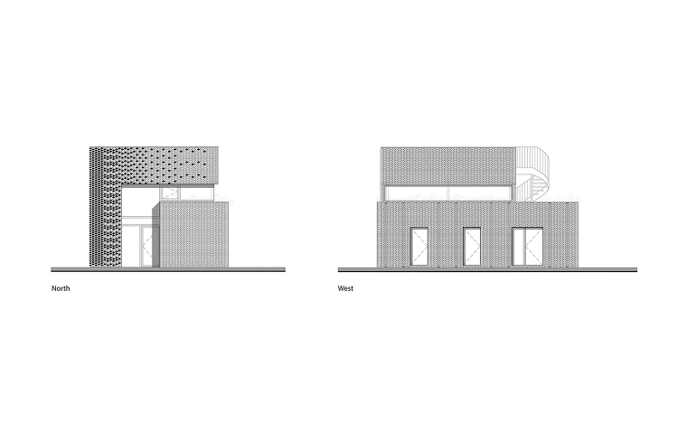 [단독주택] 흑벽돌로 마감한 2층 단독주택 House Like Garden (Ijburg House) / Marc Koehler Architects (140 m2) :: archive23
