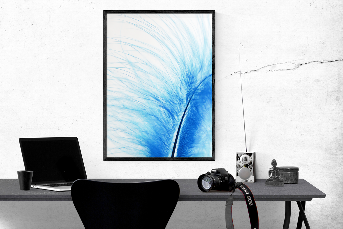 Decorative Office Wall Painting Mockup To Showcase Your Creative Artwork In An Office Environment Psd Comes With 300 Gallery Wall Mockup Mockup Design Artwork