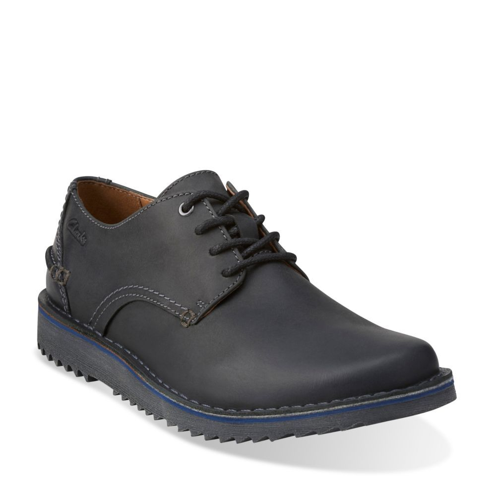 Remsen Limit Black Leather - Clarks Mens Shoes - Lace-ups and Slip-ons - Clarks - Clarks® Shoes