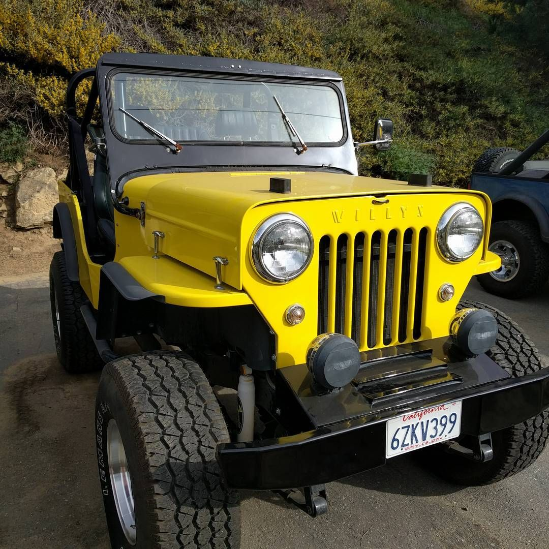 "myjeepcherokee: ""Another beautiful yellow Willy's… (at Laguna Beach"