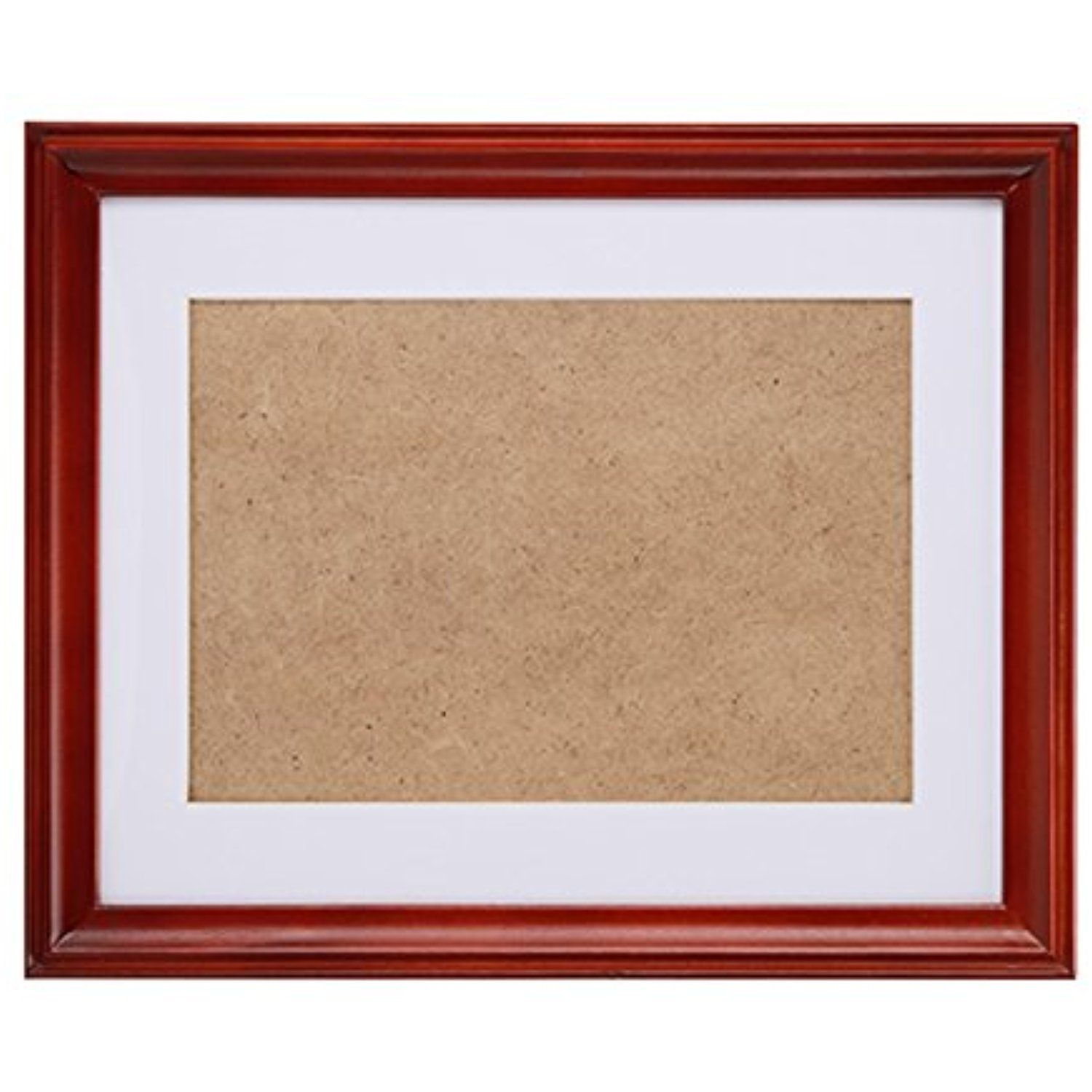 Fastnova 11x13 Inch Narrow Cherry Red Wood Picture Frames Made To Display Picture 8x10 With Mat Or 10x12 W Wood Picture Frames Picture Display Picture Mounting