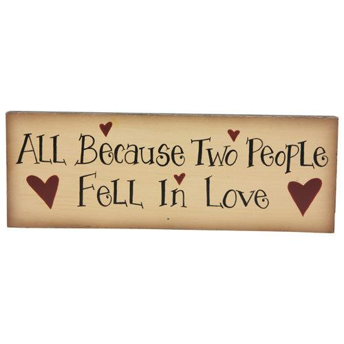 Two People Fell in Love Wooden Sign | eBay | crafts | Pinterest ...