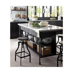 Sedona Honey Large Tote Reviews Crate And Barrel In 2021 Large Kitchen Island Metal Kitchen Island French Kitchen