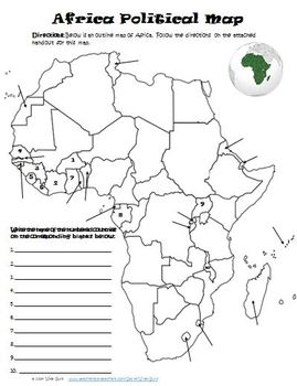 Africa Physical Political Map Activity Quiz | Products in 2019
