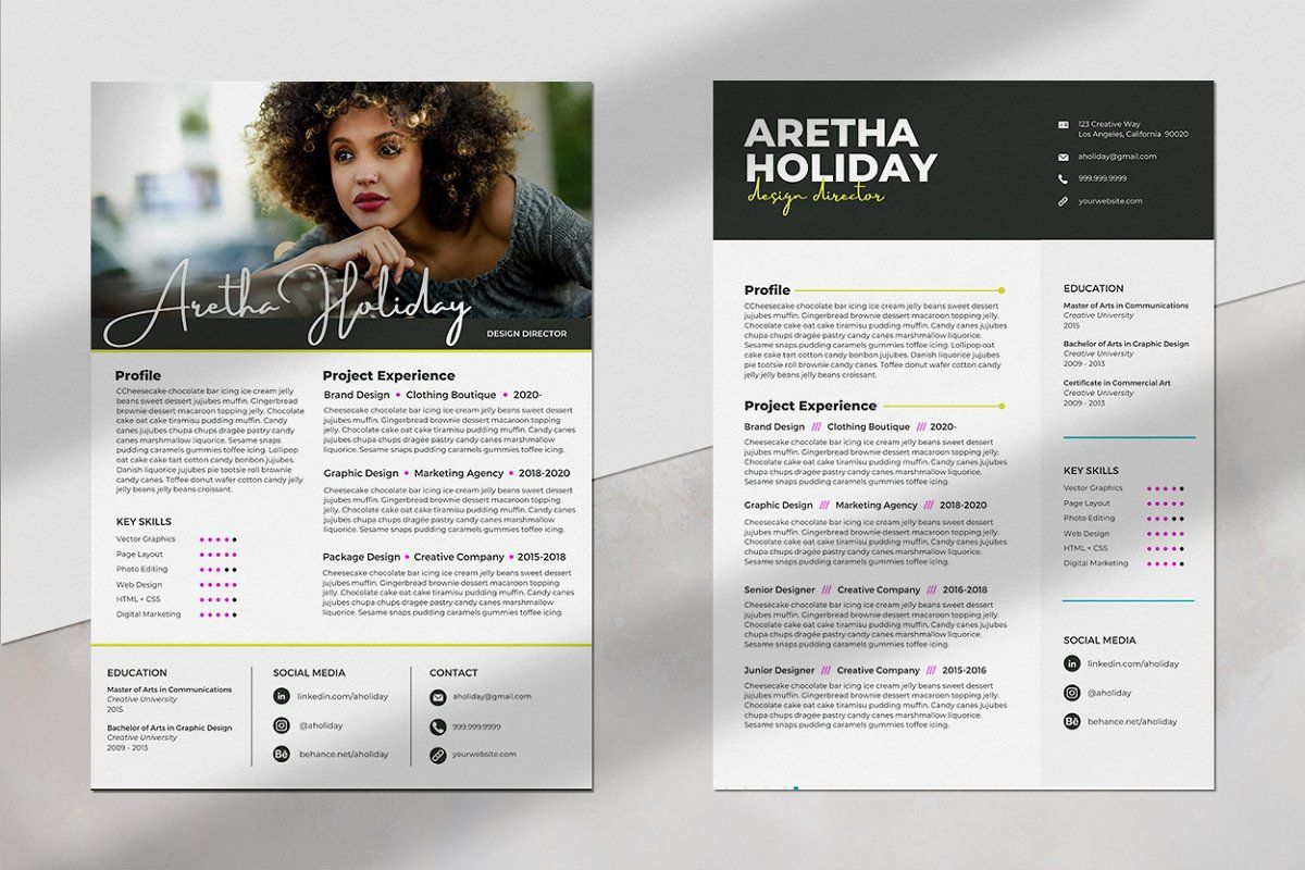 Canva Resume Template Pack in 2020 Resume template