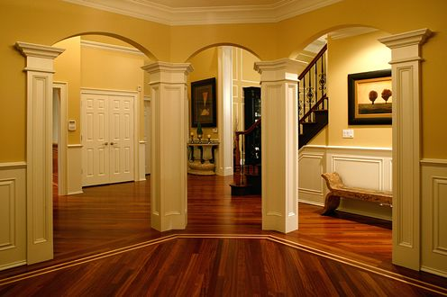 Decorating arches in house out what is behind a wall - Archway designs for interior walls ...