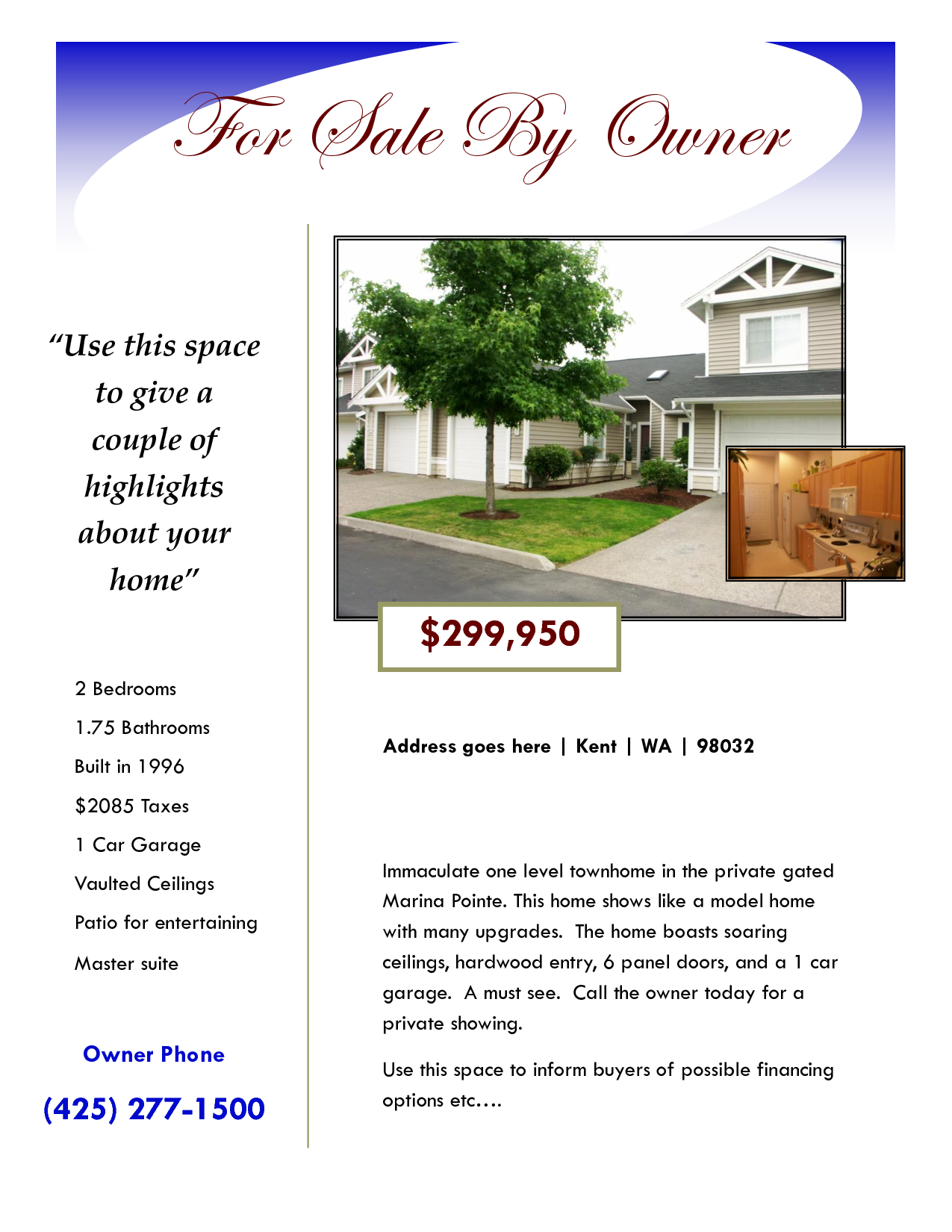 House For Sale Flyer   Google Search  House For Sale Sign Template