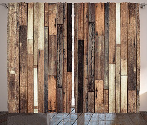 Wooden Curtains 2 Panel Set By Ambesonne Brown Old Hardw Https Www Amazon Com Dp B01n0fav6w Ref Cm Sw R Pi Rustic Flooring Hardwood Design Plank Flooring