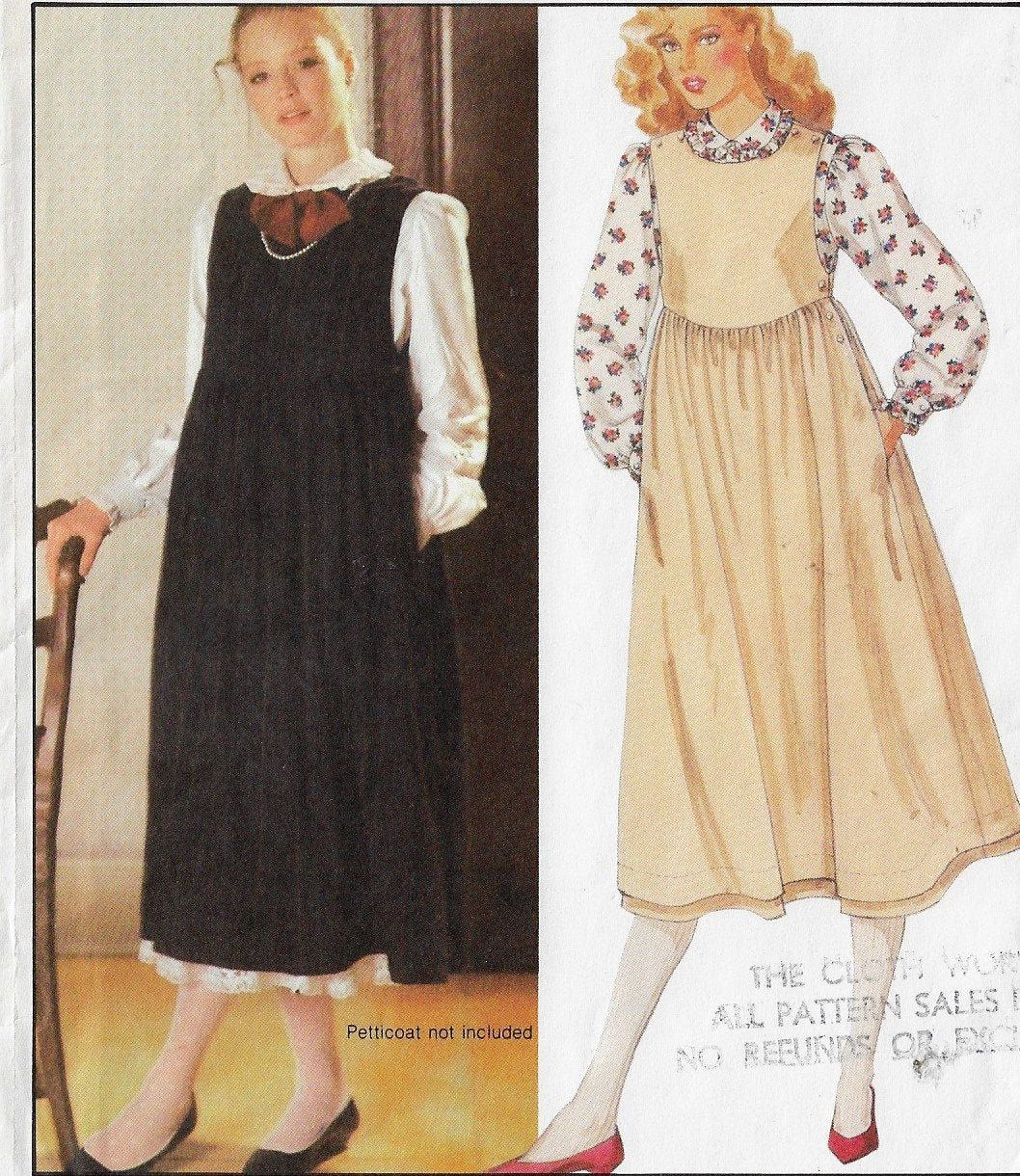 1980s Mccalls Sewing Pattern 9156 Laura Ashley Womens Long Sleeved