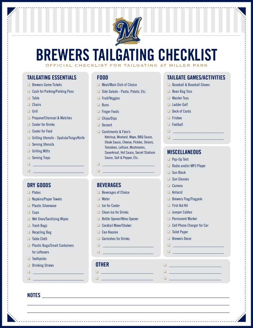 Incredible Brewers Ultimate Tailgate Checklist Tailgate Games Gmtry Best Dining Table And Chair Ideas Images Gmtryco