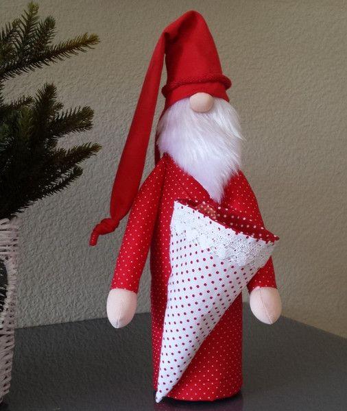 Nikolaus & Weihnachtsmann - Nikolaus Weihnachtsmann Flaschenkleid Geschenk - ein Designerstück von lousy bei DaWanda