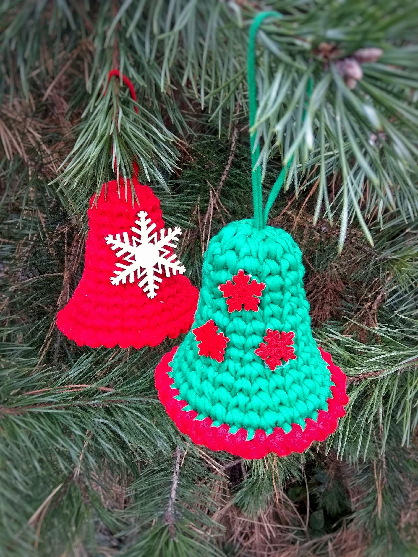 Christmas Crochet Bell Ornament Pattern Crochet Christmas Etsy In 2021 Christmas Crochet Holiday Crochet Patterns Handmade Ornaments