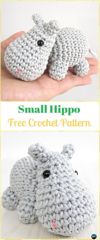 Amigurumi Crochet Hippo Toy Softies Free Patterns | Patrones ...