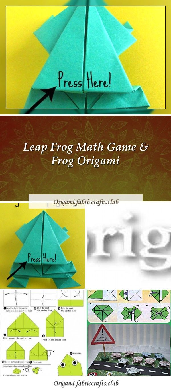 Photo of Sprung Frosch Mathe Spiel & Frosch Origami