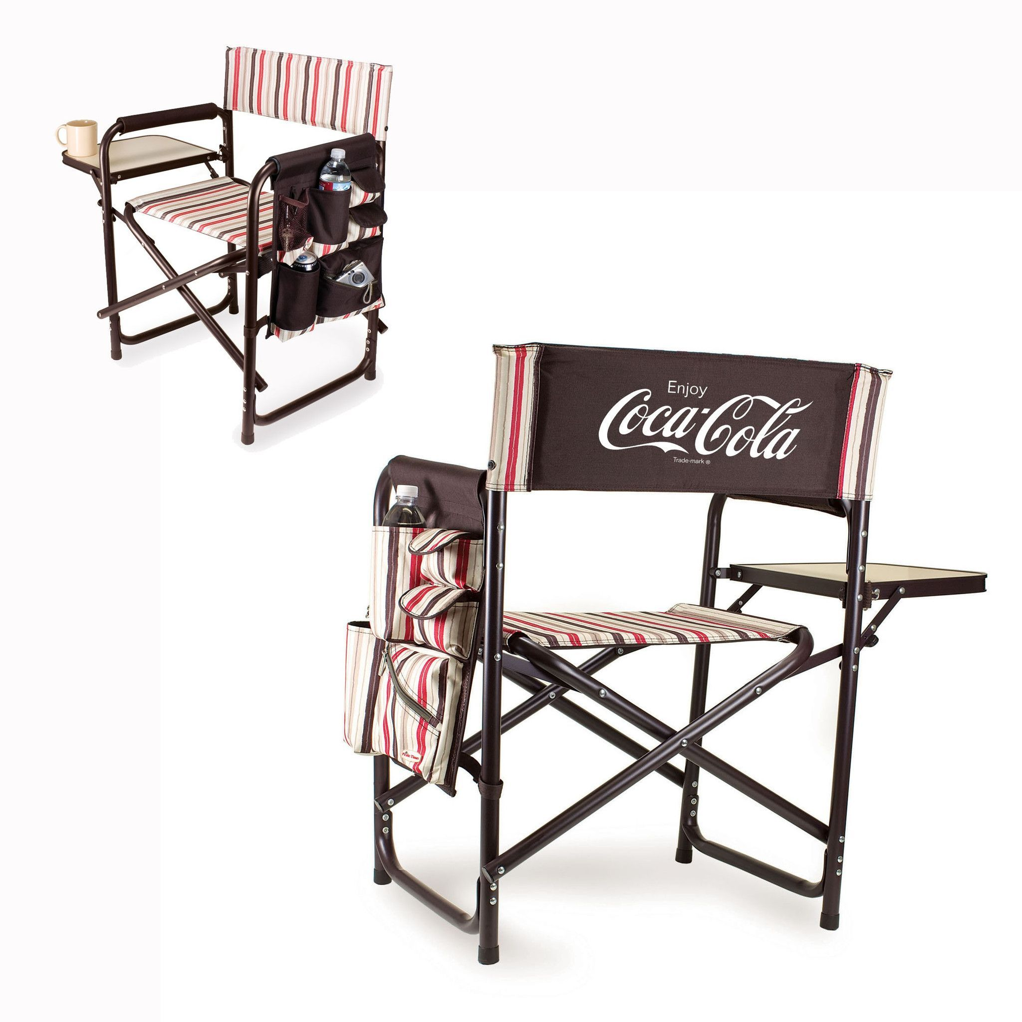 Coca Cola Sports Chair With Fold Out Table by Picnic Time