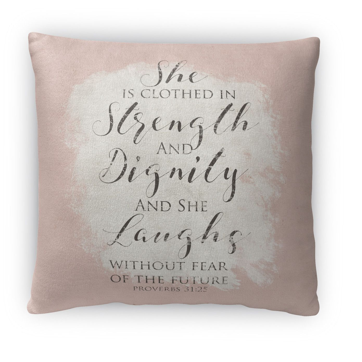 Strength, Dignity, Laughs Fleece Throw Pillow